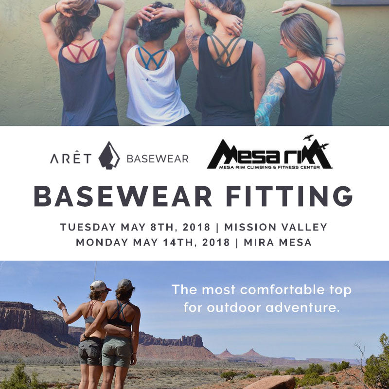 Arêt Basewear Fitting at Mesa Rim Climbing and Fitness Center