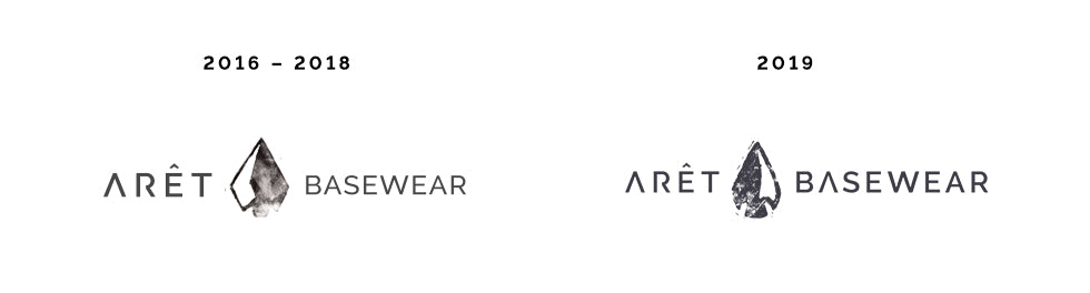 Arêt Basewear brand update and new logo for 2019