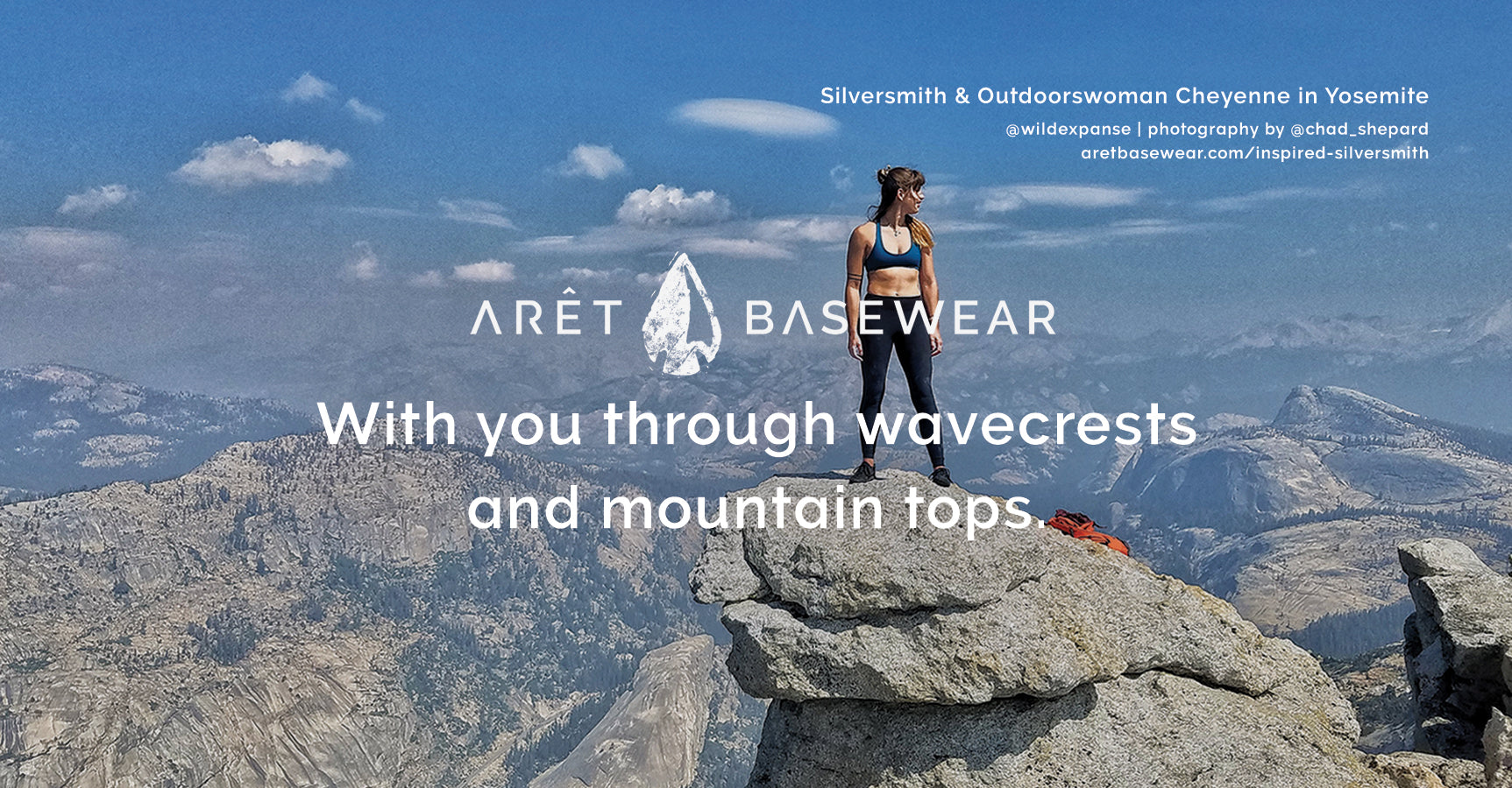Arêt Basewear is with you through wavecrests and mountain tops