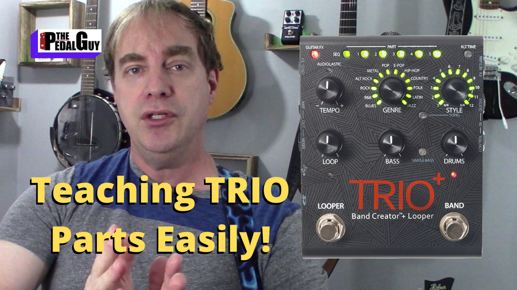 New Video Digitech Trio Plus Recording Tutorial Teaching Parts and Matching Tempo