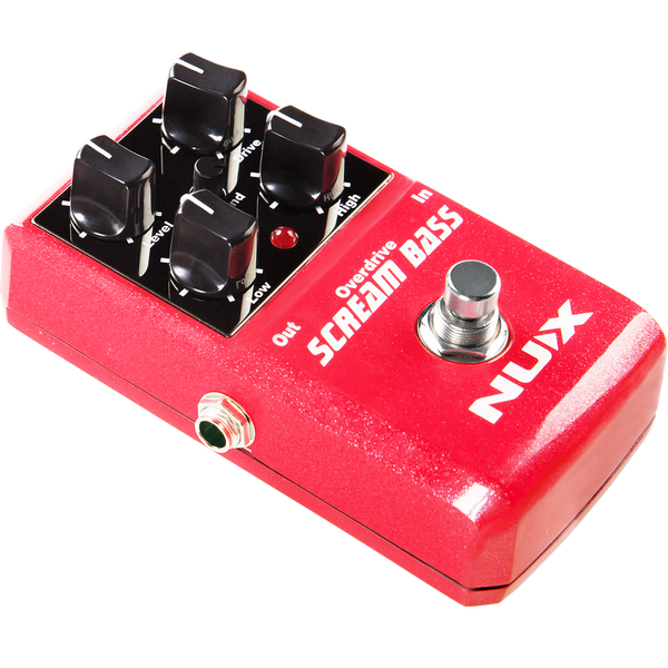 NuX Scream Bass Overdrive Pedal Open Box-ThePedalGuy
