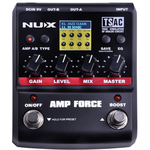 NuX Amp Force Modeling Amp Simulator Open Box-ThePedalGuy