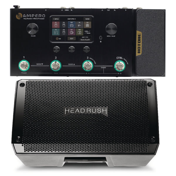 Hotone Ampero Pedalboard and Headrush FRFR108 Bundle-ThePedalGuy