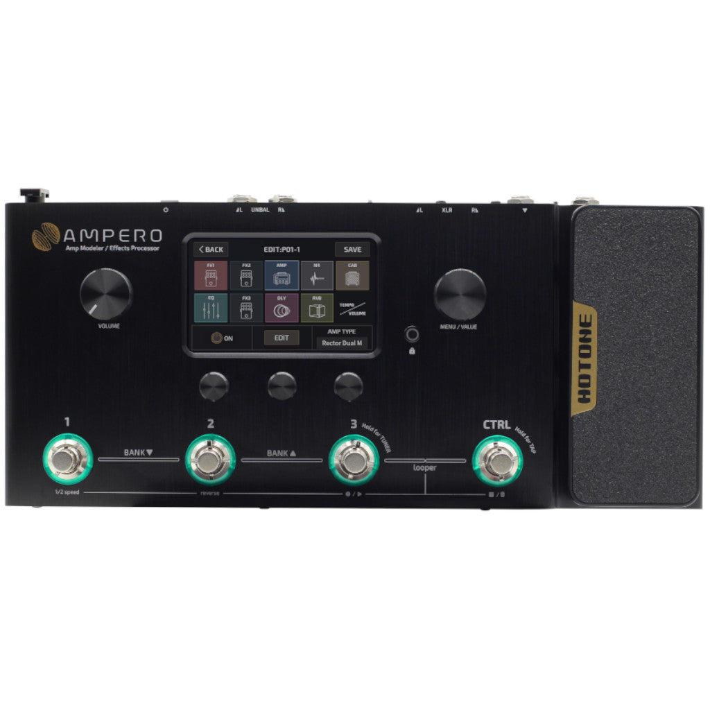 Hotone Ampero Amp Modeler and Effects Processor Pedalboard PREORDER - Ships in Early May-ThePedalGuy