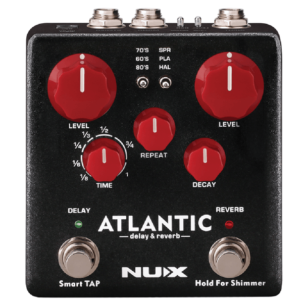 NuX Atlantic Delay and Reverb Pedal Open Box-ThePedalGuy