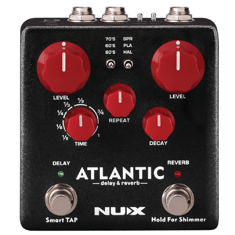 NuX Atlantic Delay and Reverb Pedal-ThePedalGuy