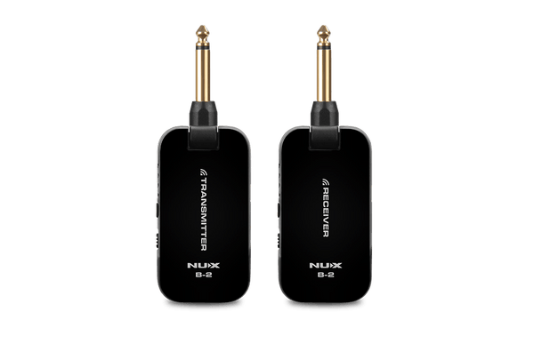 NuX B-2 2.4 GHz Wireless System with USB Charging Cable Black-ThePedalGuy