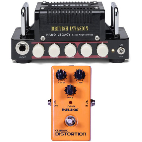 Hotone Nano Legacy British Invasion 5W Amp Head and NuX DS-3 Distortion Pedal-ThePedalGuy