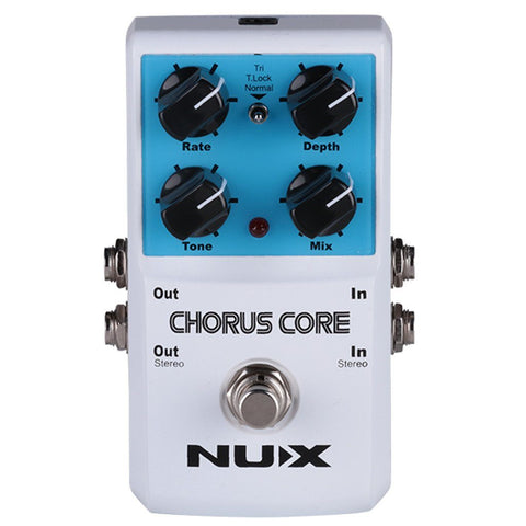 NuX Chorus Core Pedal for Guitar and Bass-ThePedalGuy