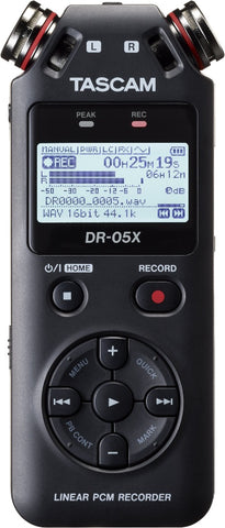 Tascam DR-05X Stereo Handheld Digital Audio Recorder and USB Audio Interface-ThePedalGuy