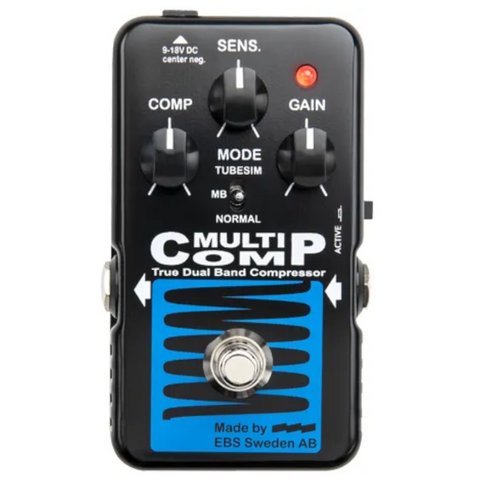 EBS MultiComp Blue Label Analog Multiband Compressor Pedal-ThePedalGuy