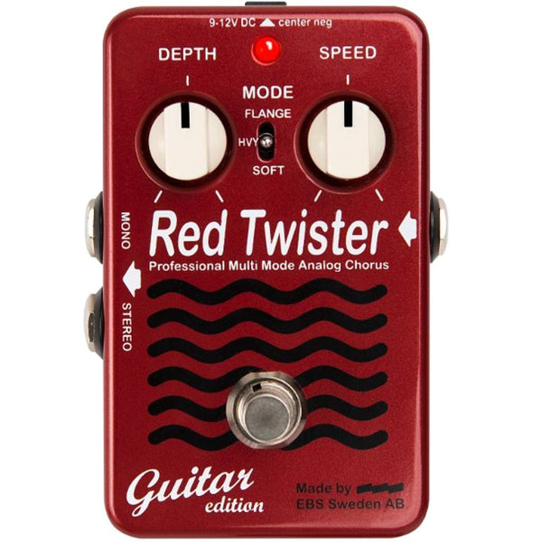 EBS Red Twister - Guitar Edition Chorus Pedal-ThePedalGuy