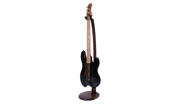 Ruach Galanta Wooden Bass Guitar Stand – Walnut-ThePedalGuy