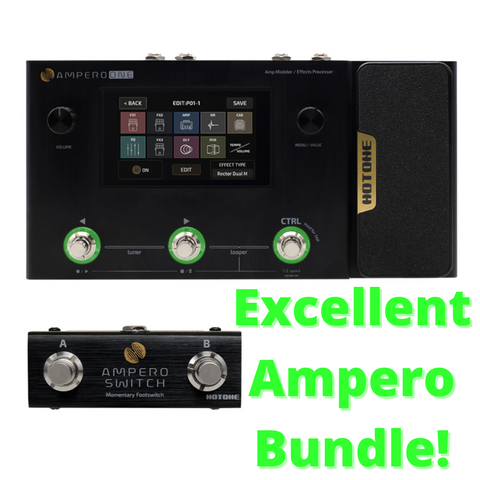 Hotone Ampero One Amp Modeler and Effects Processor Pedalboard Bundle-ThePedalGuy