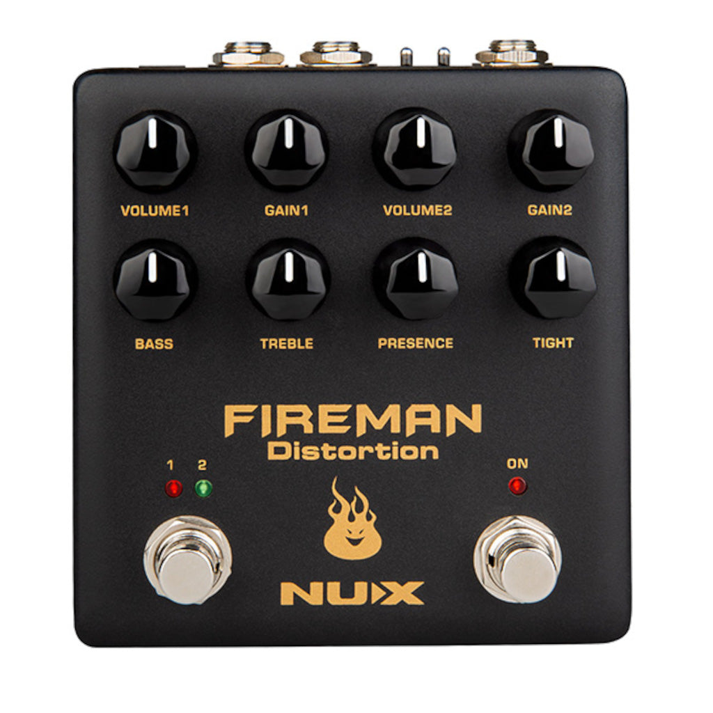 NuX Fireman Distortion Pedal Based on Dual Channel Brown Sound NDS-5-ThePedalGuy