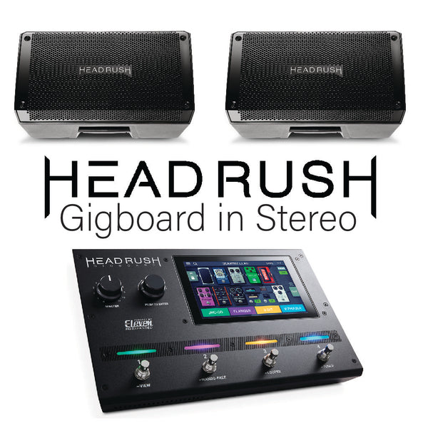 HeadRush Gigboard Multi FX Pedalboard Stereo Bundle with dual FRFR108s-ThePedalGuy