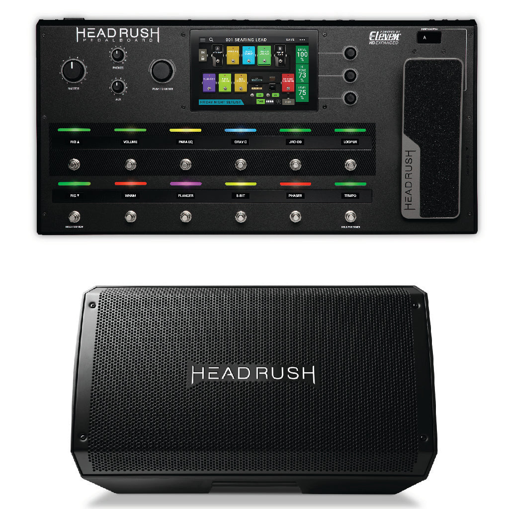 HeadRush Pedalboard Multi FX Pedalboard Bundle with FRFR112-ThePedalGuy