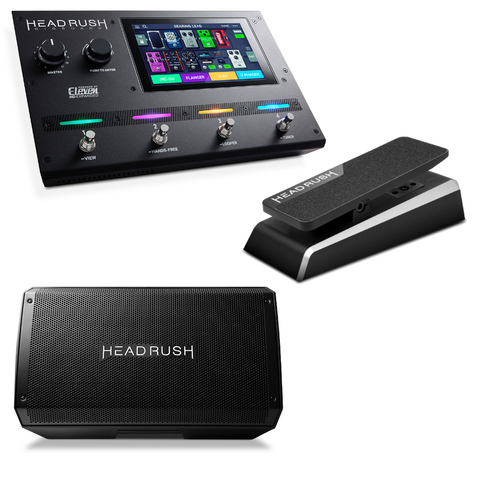 HeadRush Gigboard Multi FX Pedalboard Bundle with FRFR112 and Premium Expression Pedal-ThePedalGuy