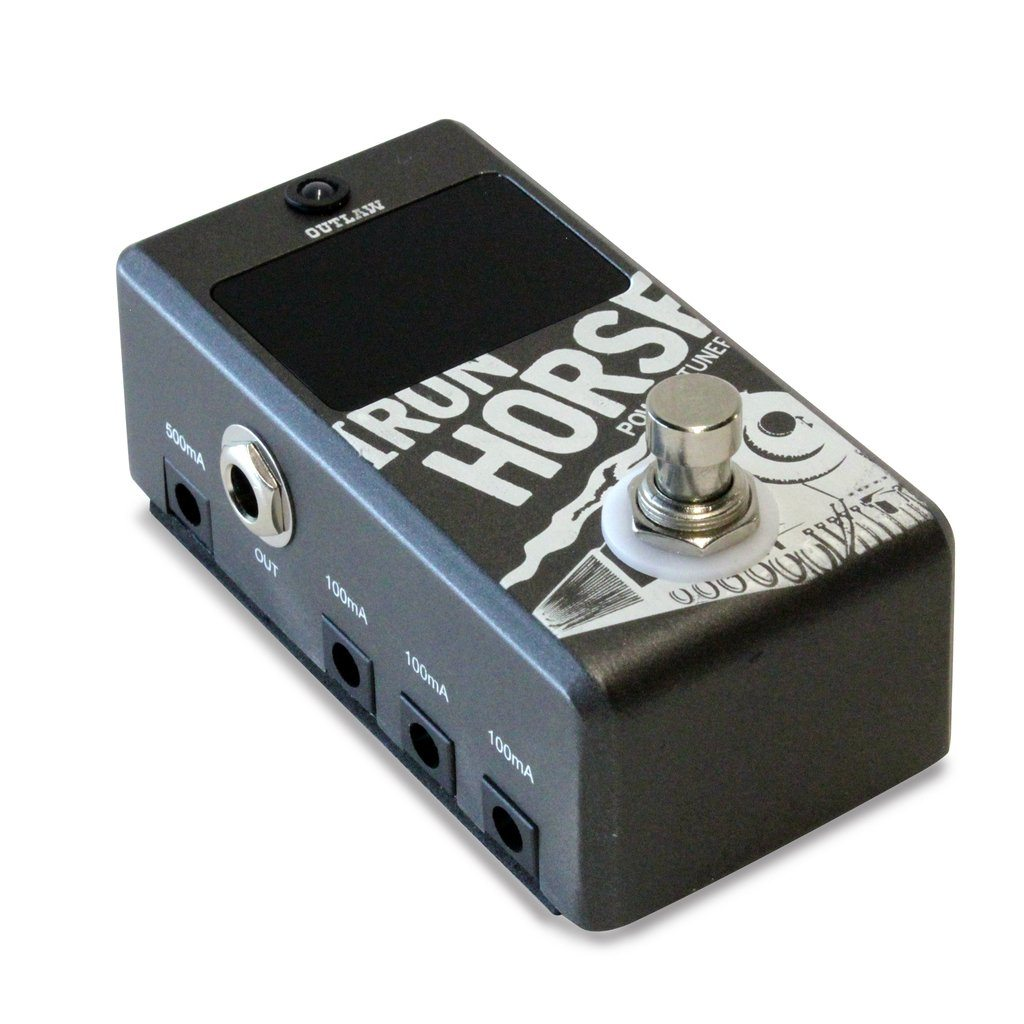 Outlaw Pedals IRON HORSE Tuner & Power Supply Pedal-ThePedalGuy