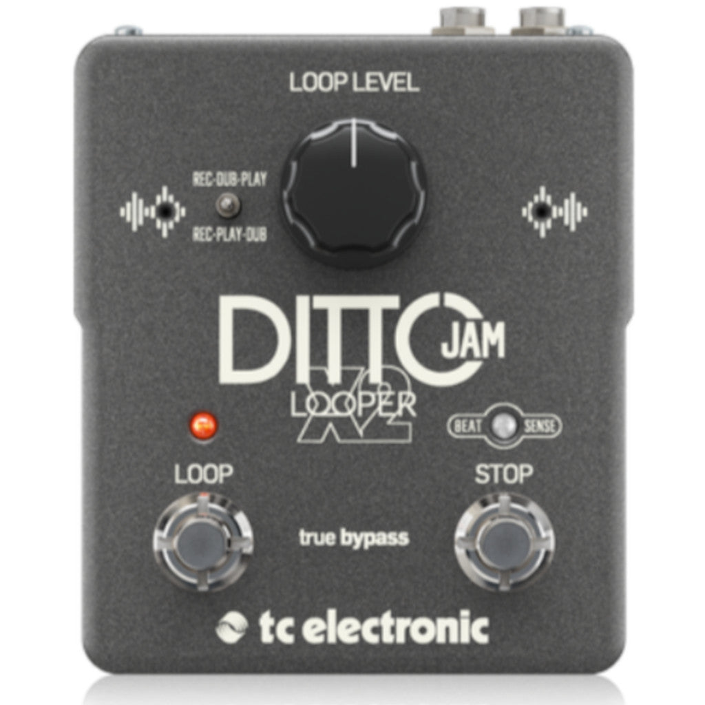 TC Electronic Ditto Jam X2 Looper Pedal Includes Clip on Mic-ThePedalGuy