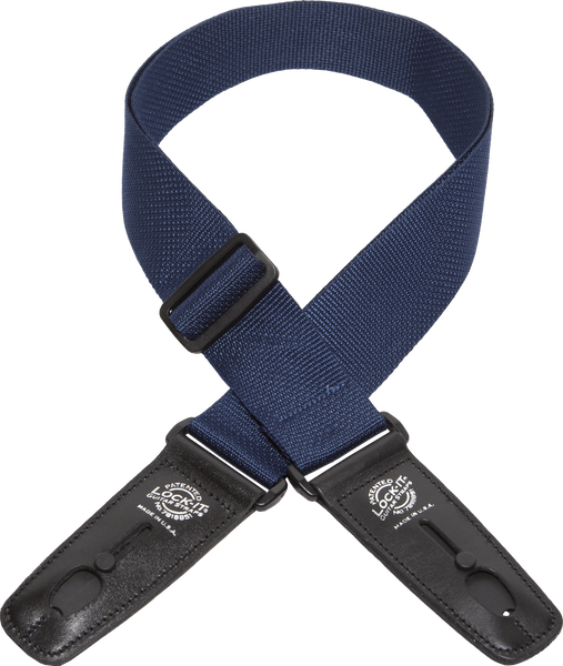 "Lock-It Straps Professional Gig Series 2"" Poly Strap with Locking Ends (LIS-001-P2-BLK)-ThePedalGuy"