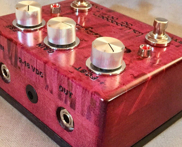 Lollygagger FX Canaglia Overdrive Special Edition Birds Eye Maple Bordeaux Open-ThePedalGuy