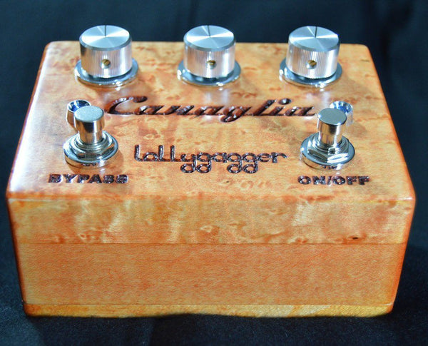Lollygagger FX Canaglia Overdrive Special Edition Birds Eye Maple Habanero Open-ThePedalGuy