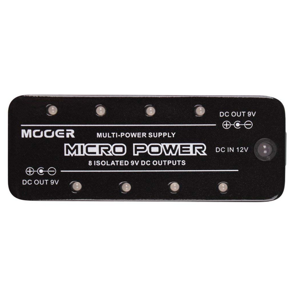 Mooer MPW-1 Micro Power Supply with 8 Isolated 9V DC Outputs-ThePedalGuy