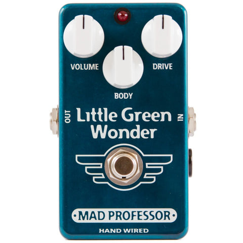 Mad Professor Little Green Wonder Overdrive Guitar Pedal Hand Wired Edition-ThePedalGuy