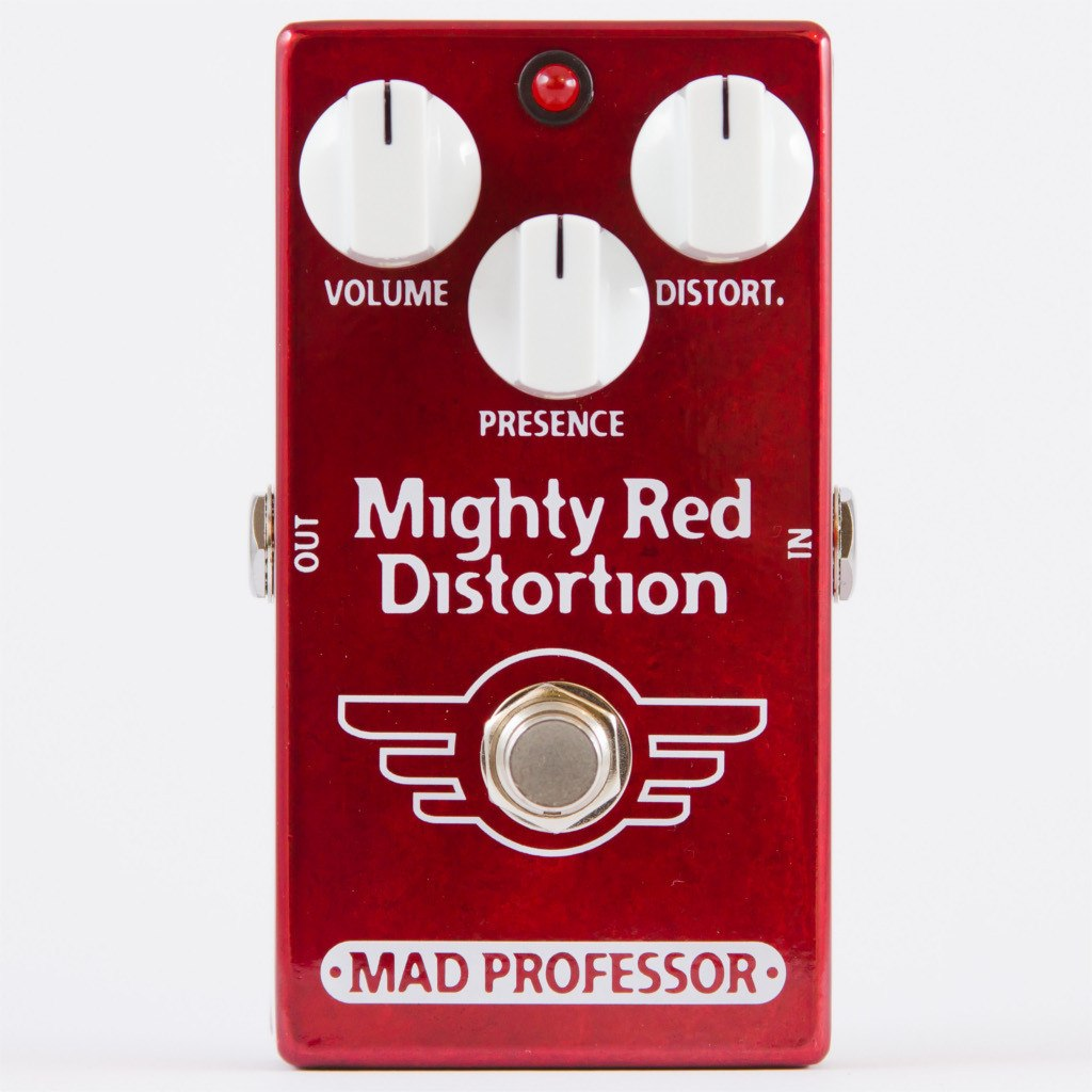 Mad Professor Mighty Red Distortion Guitar Pedal Hand Wired Edition-ThePedalGuy