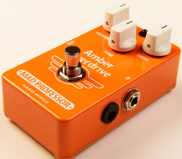 Mad Professor Amber Overdrive Guitar Pedal Hand Wired Edition-ThePedalGuy