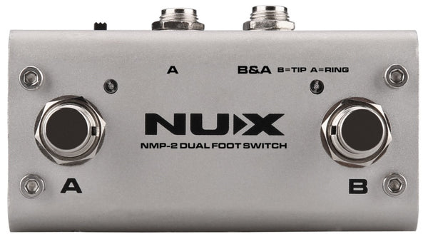NUX Loop Core Deluxe 24-Bit Looper Pedal with NMP-2 DUAL Footswitch-ThePedalGuy