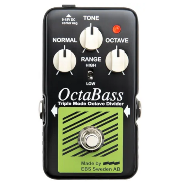 EBS OctaBass Analog Octave Blue Label Pedal-ThePedalGuy