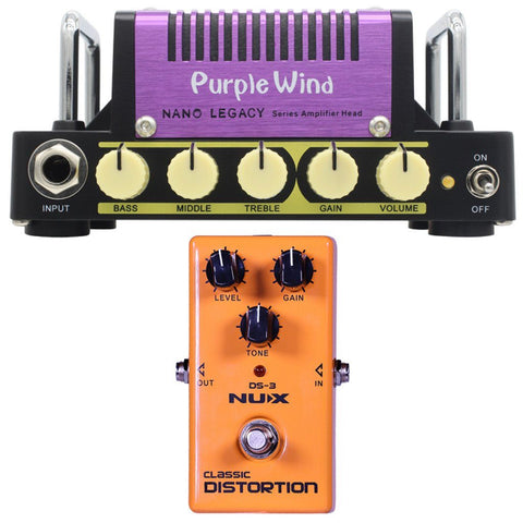 Hotone Nano Legacy Purple Wind 5W Amp NuX DS-3 Distortion Pedal Bundle-ThePedalGuy