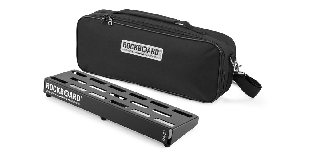 "RockBoard DUO 2.1 1.50' x 5.75"" Pedalboard with Gig Bag, Hook & Loop Tape, Cable Ties-ThePedalGuy"