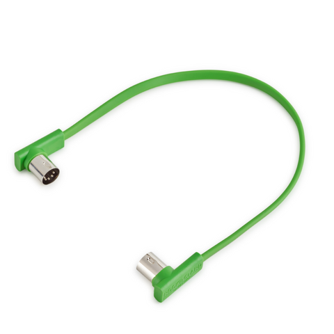 "Rockboard Flat Patch MIDI Cable, 11.81"" Green-ThePedalGuy"