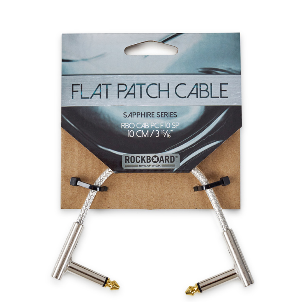 "RockBoard Flat Patch Cables 3.94"" Sapphire-ThePedalGuy"