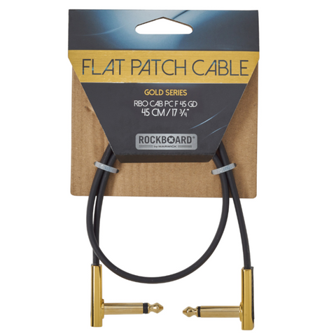 RockBoard Flat Patch Cables 1.47' Gold-ThePedalGuy