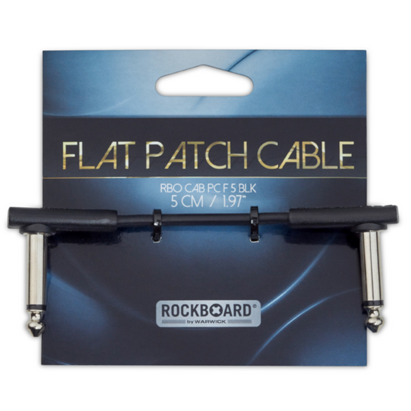 "RockBoard Flat Patch Cables 1.97"" Black-ThePedalGuy"
