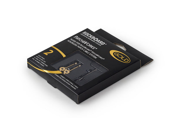 RockBoard PatchWorks Solderless Plugs, 2 pcs. - Gold-ThePedalGuy