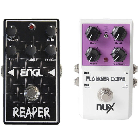 ENGL BC-10 Reaper Distortion Pedal With NuX Flanger Core Bundle-ThePedalGuy
