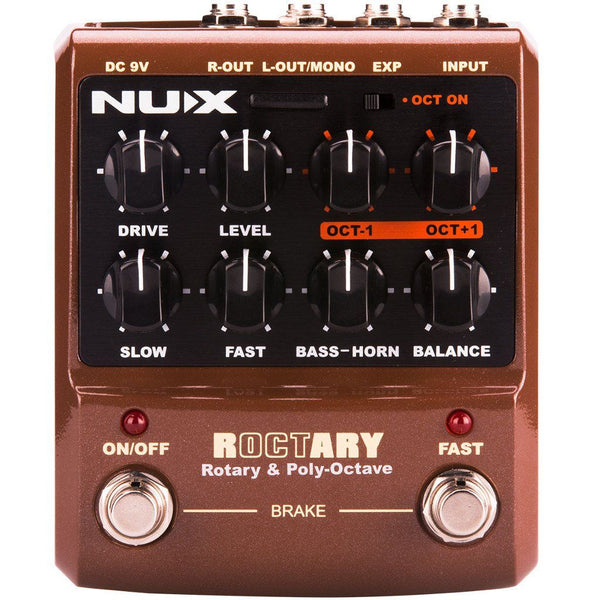 NUX ROCTARY Simulator & Polyphonic Octave Effects Pedal Open Box-ThePedalGuy