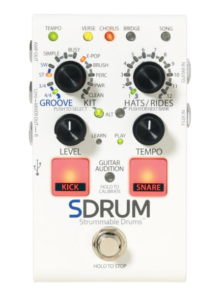 DigiTech SDRUM Intelligent Drum Machine For Guitar and Bass-ThePedalGuy