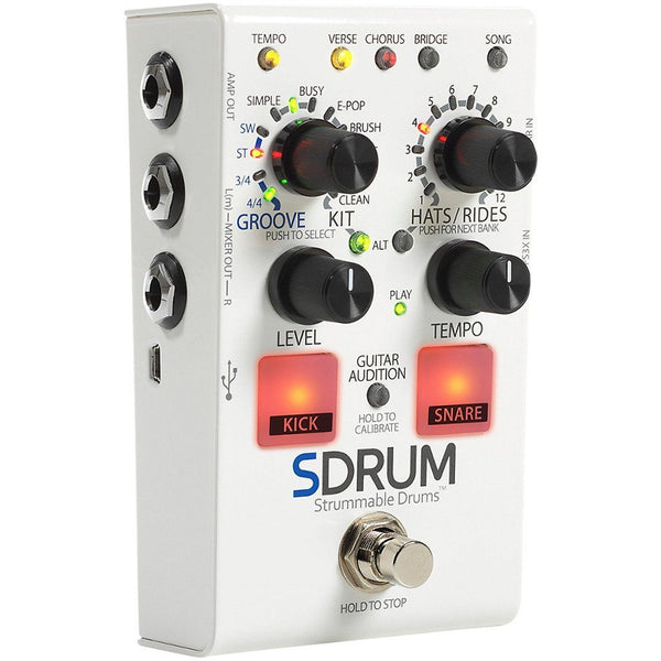 DigiTech SDRUM Intelligent Drum Machine For Guitar and Bass with FREE Footswitch-ThePedalGuy