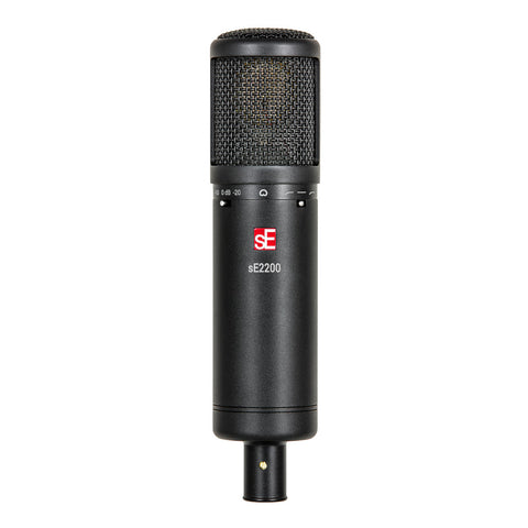 sE Electronics SE2200 Large Diaphram Cardiod Condenser Mic with Shockmount and Filter-ThePedalGuy