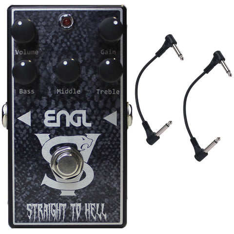 ENGL VS-10 Straight to Hell Distortion Pedal with Two Patch Cables-ThePedalGuy