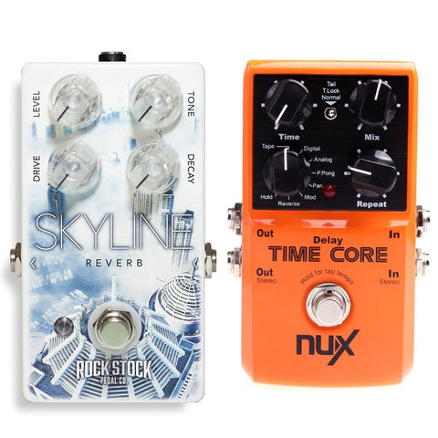 Rock Stock Skyline Reverb and NuX Time Core Delay Bundle-ThePedalGuy