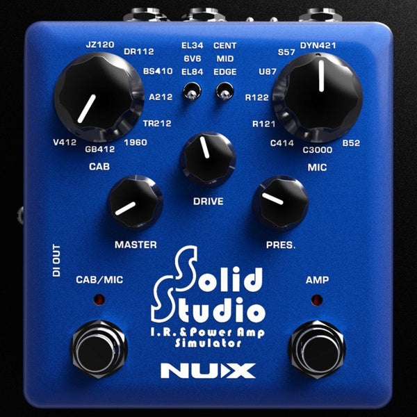 NuX Solid Studio IR and Power Amp Simulator Pedal Open Box-ThePedalGuy