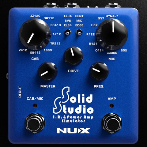 NuX Solid Studio IR and Power Amp Simulator Pedal B Stock-ThePedalGuy