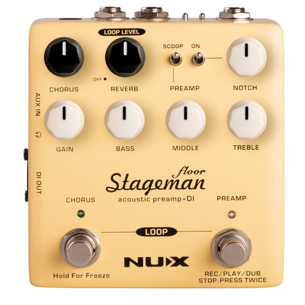 NuX Stageman Floor Acoustic Preamp & DI Pedal OPEN BOX-ThePedalGuy